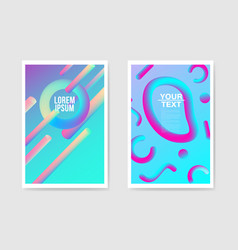 abstract poster liquid background fluid shapes vector image