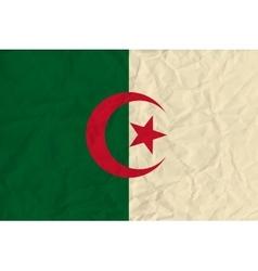 Algeria paper flag vector image