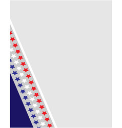 American abstract flag corner border frame vector