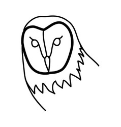 animal barn owl icon design clip art line icon vector image