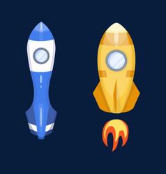 Astronomy space rocket cartoon vector