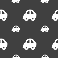 Auto icon sign Seamless pattern on a gray vector