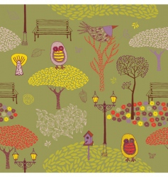 autumn park background vector image