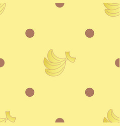 Banana choc dots seamless pattern vector