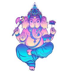 Beautiful hand-drawn tribal style elephant vector