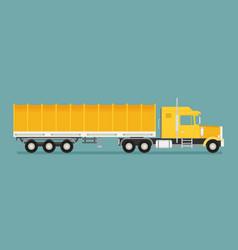 Big semi truck flat trendy vector