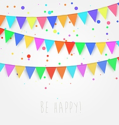 Birthday holiday festival decoration outdoor Flags vector image
