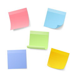 Blank realistic sticky note papers vector