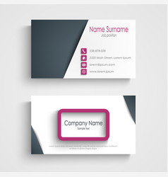 business card with abstract frame design element vector image