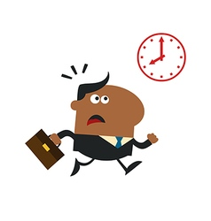 Businessman Running Late vector image