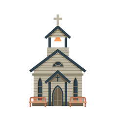 Church architectural construction wild west vector