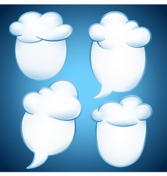 Clouds with message vector image