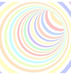 Colorful Striped Abstract Tunnel vector