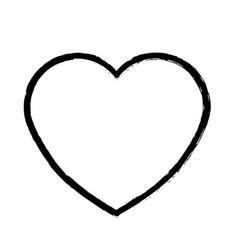 Contour beautiful romantic heart icon vector