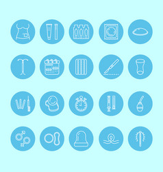 contraceptive methods line icon birth control vector image