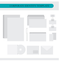 corporate identity design template vector image