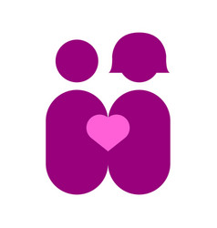 couple abstract love graphic vector image