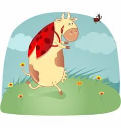 cow ladybird vector image