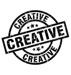 Creative round grunge black stamp vector