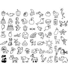Cute Icon Set vector image