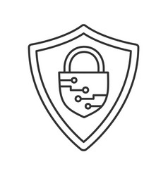 Cybersecurity linear icon vector
