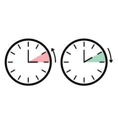 Day light saving time black white sign vector