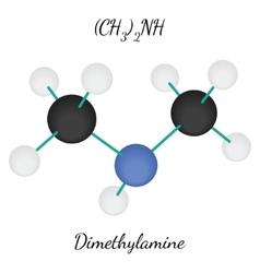 Dimethylamine C2H7N molecule vector image