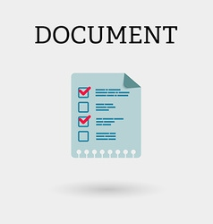 Document with two ticks Flat style vector