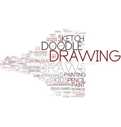 Draws word cloud concept vector