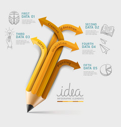 Education pencil Infographics template vector