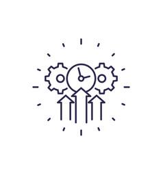 Efficiency efficient growth line icon vector