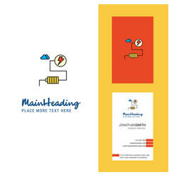 energy creative logo and business card vertical vector image
