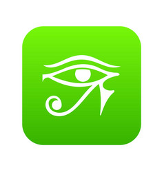 Eye of horus egypt deity icon digital green vector