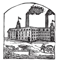 Factory vintage vector