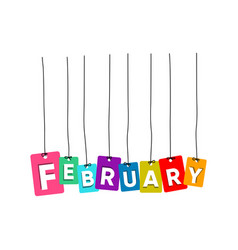 february word vector image