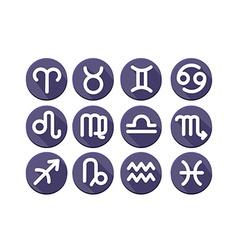 Flat trendy zodiac symbols vector image