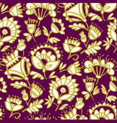 folk-style classic floral pattern vector image