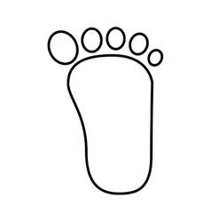 Footprint human silhouette icon vector
