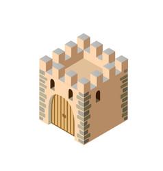 Fort ancient historic antique fortress castle vector