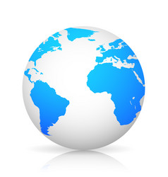 globe world grey color with shadow stylish design vector image