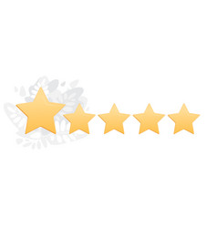 gold star icon on grey and white backdrop vector image