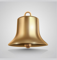 golden bell isolated on white vector image