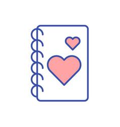 Gratitude journal rgb color icon vector