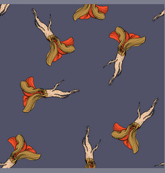 horseradish retro coloured pattern vector image