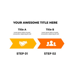 Infographic arrows for 2 steps options vector