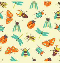 Insects icons collection vector
