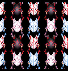 Japanese deamon fox pattern vector