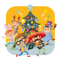 Kids christmas carnival party vector
