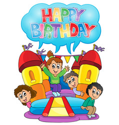Kids party theme image 6 vector