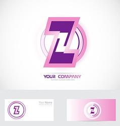 Letter Z pink logo vector image